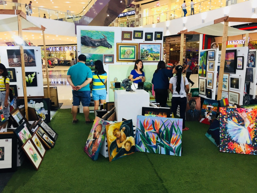 """BACOLOD. The """"Art for Everyone"""" exhibit at SM City Bacolod features more than 500 art pieces from over 30 participating artists. (Contributed Photo)"""
