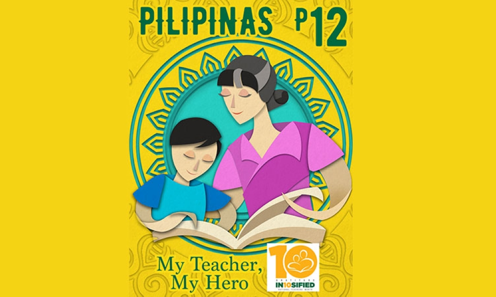 "MANILA. The cartoon-style colored postage stamp, designed by PHLPost graphic artist Rodine Teodoro, illustrates a teacher ""patiently guiding and teaching her student for a better future."" (Contributed photo)"