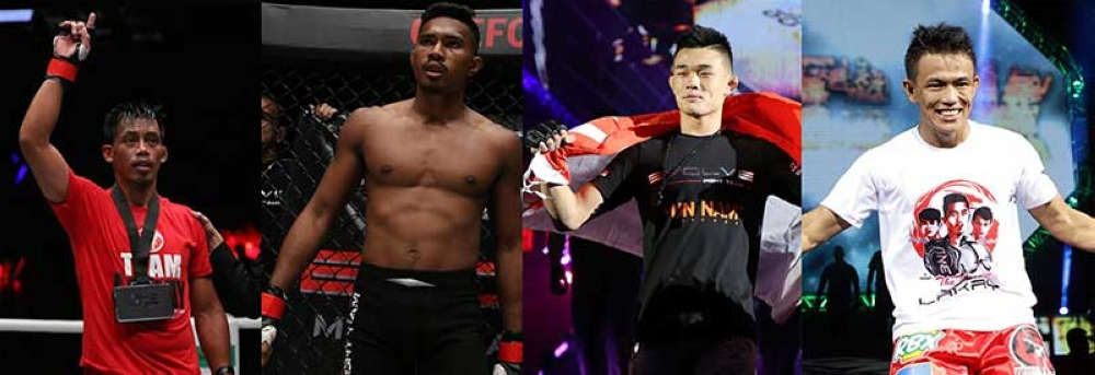 CLASH OF THE TITANS. Team Lakay's Honorio Banario (left) and Edward Kelly (right) will seek another victory inside the cage when they meet Evolve's Amir Khan and Christian Lee. (Photo by ONE Championship)