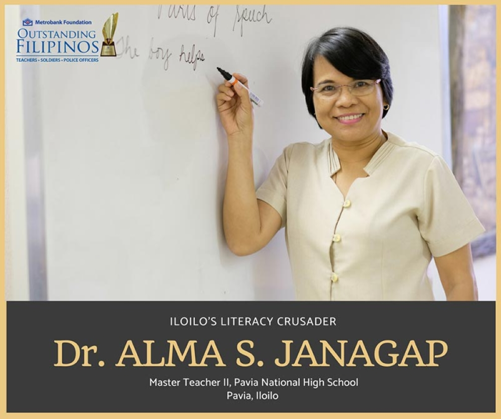 Alma Janagap, EdD, a Master Teacher II at Pavia National High School, was among the four teachers conferred with the prestigious award which aims to recognize outstanding Filipinos who are responsible citizens, exemplary public servants, and agents of positive change in their respective communities.