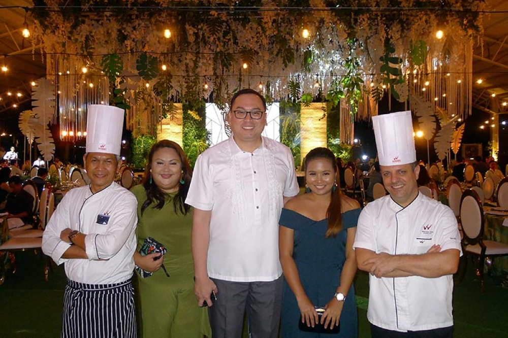 DAVAO. Hosts. Waterfront's Chef Giovanni Sias, Jenny Romero, Hotel Manager Bryan Yves Lasalas, Eccee Gamalong & Chef Bien Chavez. (Jinggoy I. Salvador)