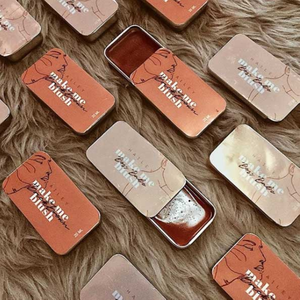 CAGAYAN DE ORO. Hailey Organics' cream blushes, available in three shades: Boss Babe, Dusty Rose and Brick Brown. (Photo from Hailey Organics Instagram page)