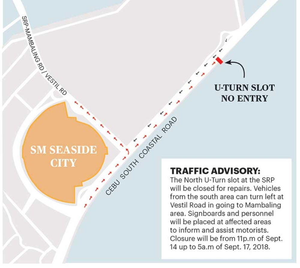 SRP north U-turn slot to be closed for repair - SUNSTAR