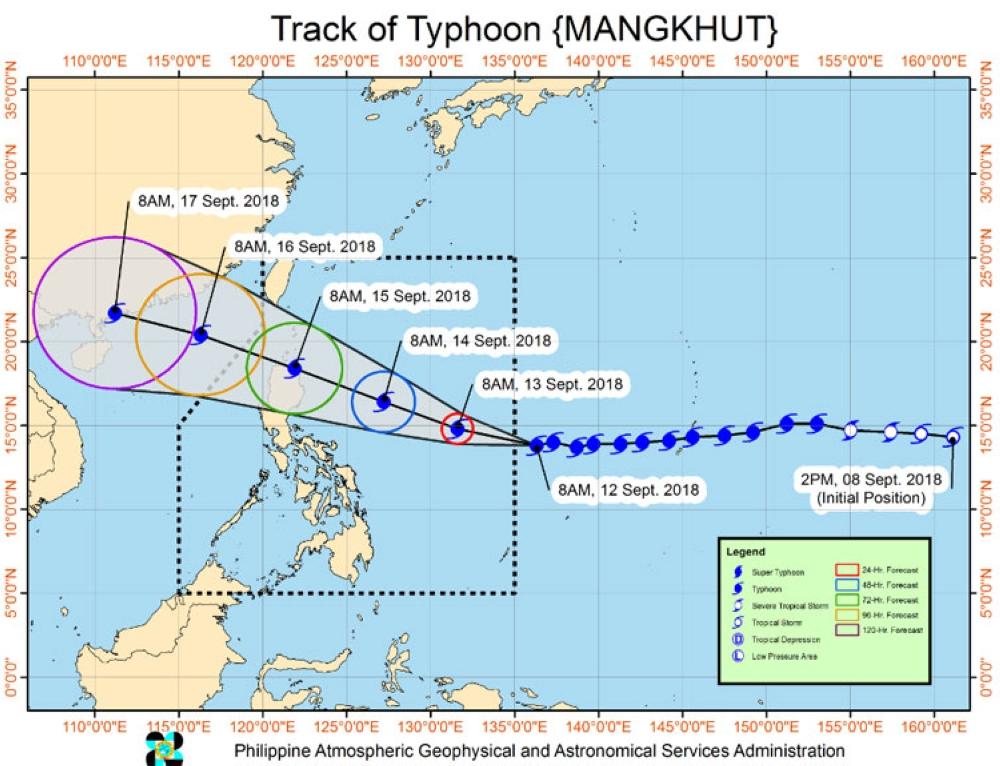 CEBU.Police Regional Office-Central Visayas Director Debol Sinas declared red alert in Wednesday, September 12, as Typhoon Mangkhut enters PAR. (PAG-ASA)