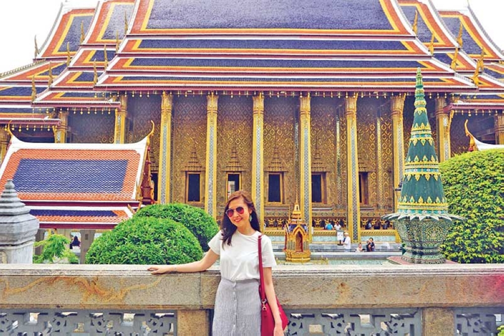 THAILAND. The view of the Royal Pantheon, where eight statues of previous Thai Kings are enshrined. (Kathleen Pastrana)