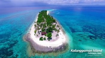 LEYTE. The famed Kalanggaman Island in Palompon, Leyte as seen from above. The Island is known for its long, white and powdery sandbars and crystal clear water, making it the latest destination for international cruise ships. (Photo courtesy of Joseph Pasalo)