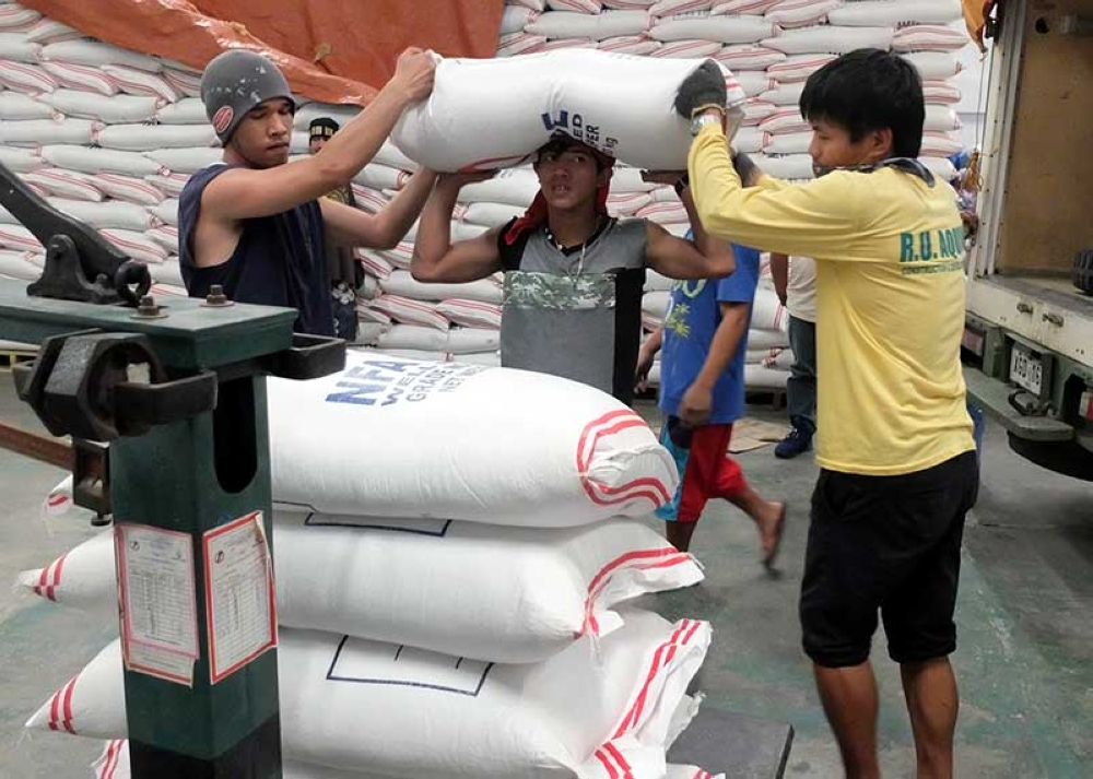 BAGUIO. Additional supply of NFA rice is now prepositioned to avert shortage after Typhoon Ompong. (Photo by Dave Leprozo Jr.)