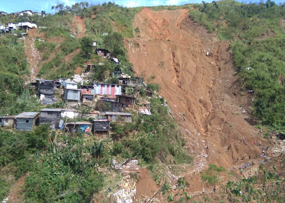 BENGUET. The landslide which buried 40 to 50 people in Ucab, Itogon is seen as one of the worst tragedies that hit the mining town. (Photo by Jean Nicole Cortes)