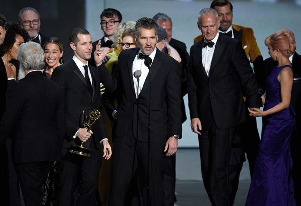 USA. David Benioff and the cast and crew of