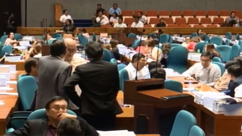 MANILA. Third regular session of the House of Representatives. (Screenshot from House of Representatives Facebook video)