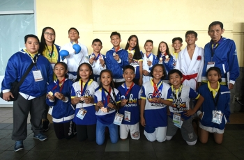 Golden Haul. The 15-person strong karatedo team won seven gold medals for Cebu Province in the Batang Pinoy. (SunStar Foto/Ruel Rosello)