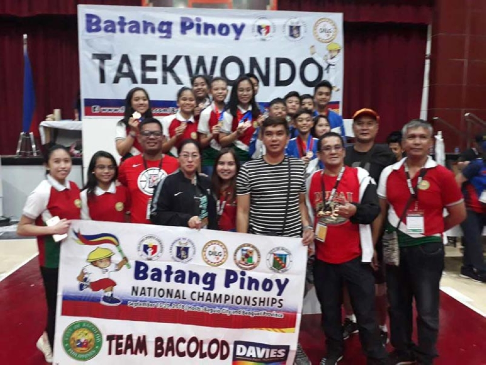 BACOLOD. Bacolod Taekwondo Team at the University of Baguio