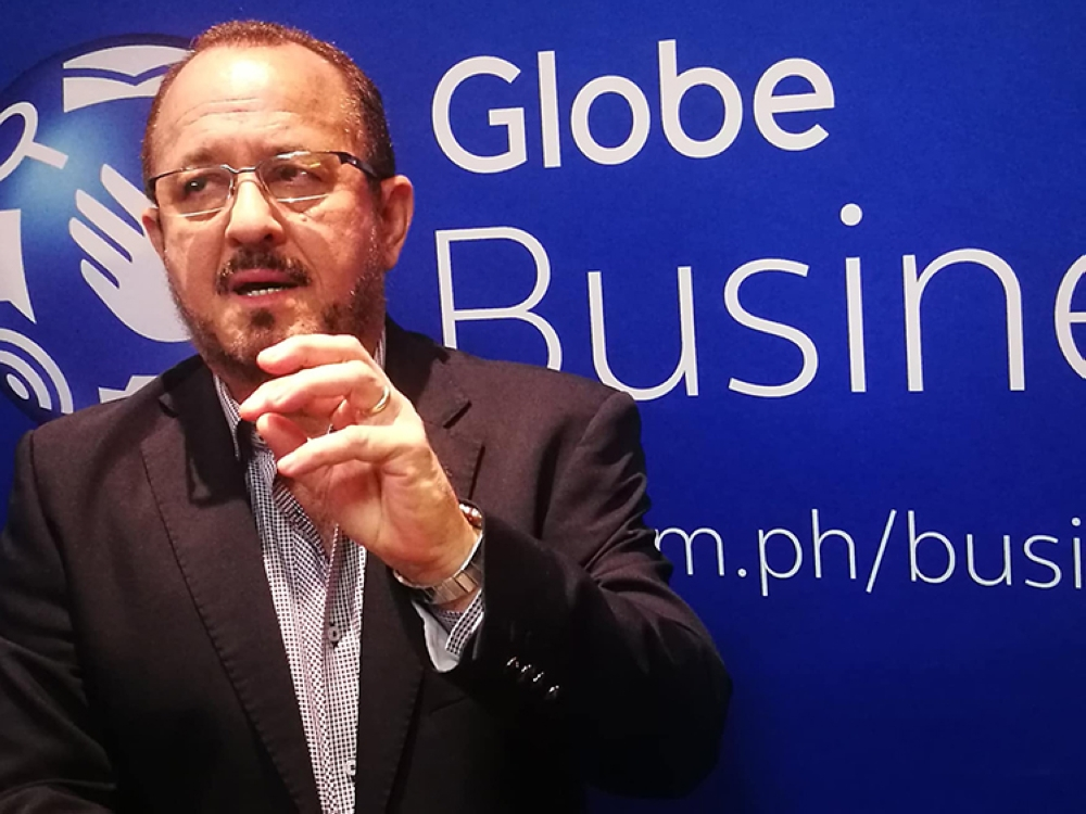Evolving needs. Globe Telecom chief commercial officer Albert de Larrazabal says these solutions are their answer to their clients' evolving needs. (SunStar Foto / Allan Cuizon)