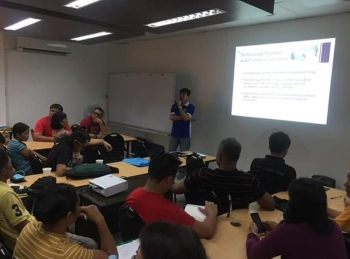 BACOLOD. DOST-Negros Occidental Provincial Director Allan Francis Daraug (standing) speaks before the participants of the seminar of good manufacturing practices initiated by DTI-Negros Occidental at the Negosyo Center in Bacolod City on Friday. (Contributed photo)