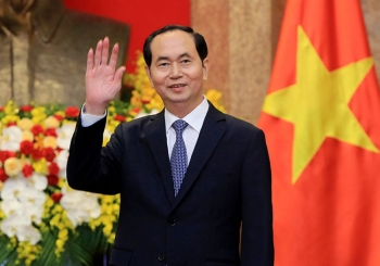 VIETNAM. In this March 23, 2018, file photo, Vietnamese President Tran Dai Quang greets journalists as he waits for arrival of Russian Foreign Minister Sergei Lavrov at the Presidential Palace in Hanoi, Vietnam. (AP)