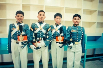 With her fellow cadets. (Contributed photo)