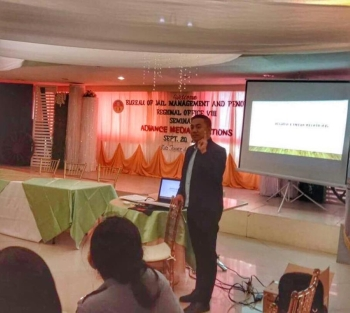 TACLOBAN. Chief Inspector Xavier Solda, head of the Bureau of Jail Management and Penology's community relations service office in Manila,  arrives in Tacloban City on September 20, 2018 to train some 55 jail officers in Eastern Visayas on Advance Media Relations. (Contributed photo)