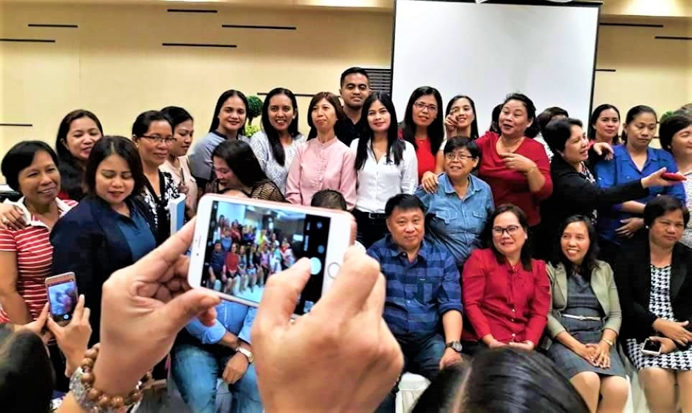 TACLOBAN CITY. Education officials and school administrators from the Department of Education in Leyte Division gamely pose for a souvenir photo after their seminar on the implementation of the Results-based Performance Management System (RPMS) manual aligned with the Philippine Professional Standards for Teachers (PPST) this school year. (Contributed photo)