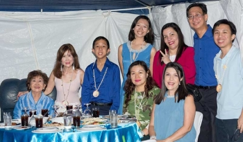 Techno-Trade Resources Inc. chief executive officer Wilbert Tan (second from left) and his family with guest of honor, Honeylet Avanceña. (Contributed Photo)