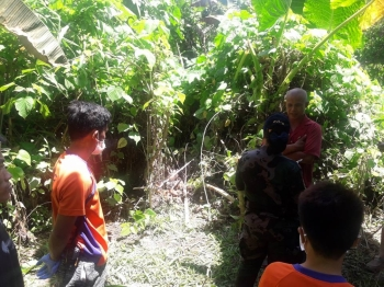 DAVAO. After going missing on September 17, a six-year-old girl was found dead Sunday, September 23, in a grassy portion of Kilometer 9, Purok 11-A, Matina Pangi, Davao City. (Photo by BDRRMC Matina Crossing, 74-A)