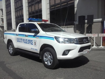 ILOILO. New police patrol car. (Carolyn Jane Abello)