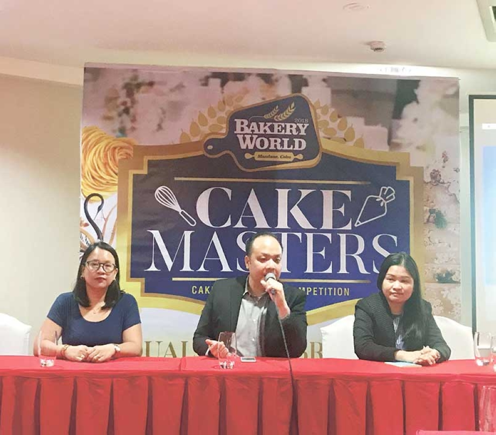 Let them eat cake. Aside from furniture and home decor, organizers of the Bakery World Expo led by Mandaue Chamber of Commerce and Industry president Stanley Go believe Cebuanos can also show off well designed cakes. (SunStar photo/Katlene O. Cacho)
