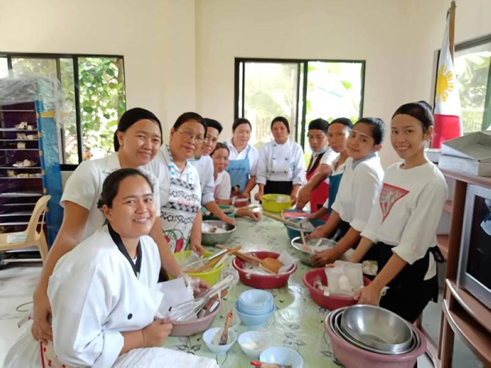 Some of the residents from Talisay City who underwent livelihood training recently (Contributed Photo)