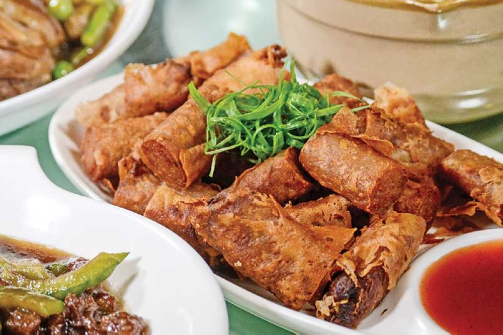 The restaurant's lumpia is among the dishes that people can't stop talking about. It's simply delicious. (Photo by Macky Lim and Reuel John Lumawag)