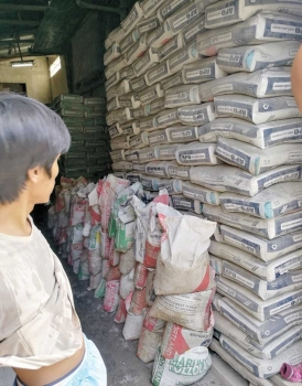 STACKED. The Department of Trade and Industry has asked cement manufacturers to submit an inventory of their stocks. The agency will be monitoring the prices and supply of cement following the suspension of mining and quarrying activities. (SunStar photo/Arni Aclao)