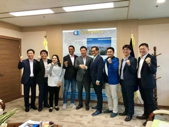 SOUTH KOREA. Councilors Suzette Magtajas-Daba, Jay Pascual and Cagayan de Oro Chamber of Commerce executives Robert Pizzaro and Tony Soriano  met with the Gwangyang Chamber of Commerce and Industry president Lee Bael-Koo at the Gwangyang Port Building, last September 21. (Photo courtesy of Councilor Pascual)
