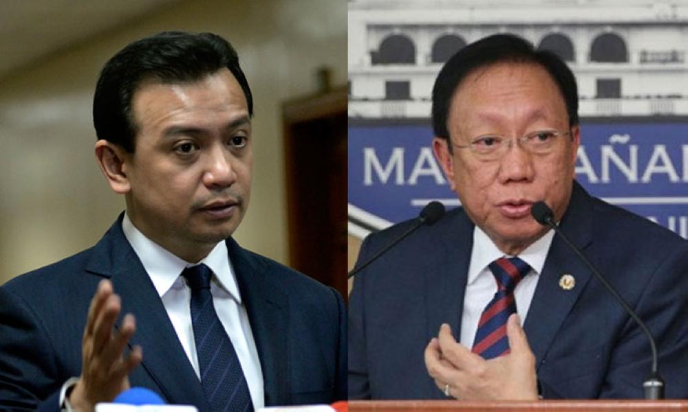 MANILA. Senator Antonio Trillanes IV and Solicitor General Jose Calida. (SunStar File)