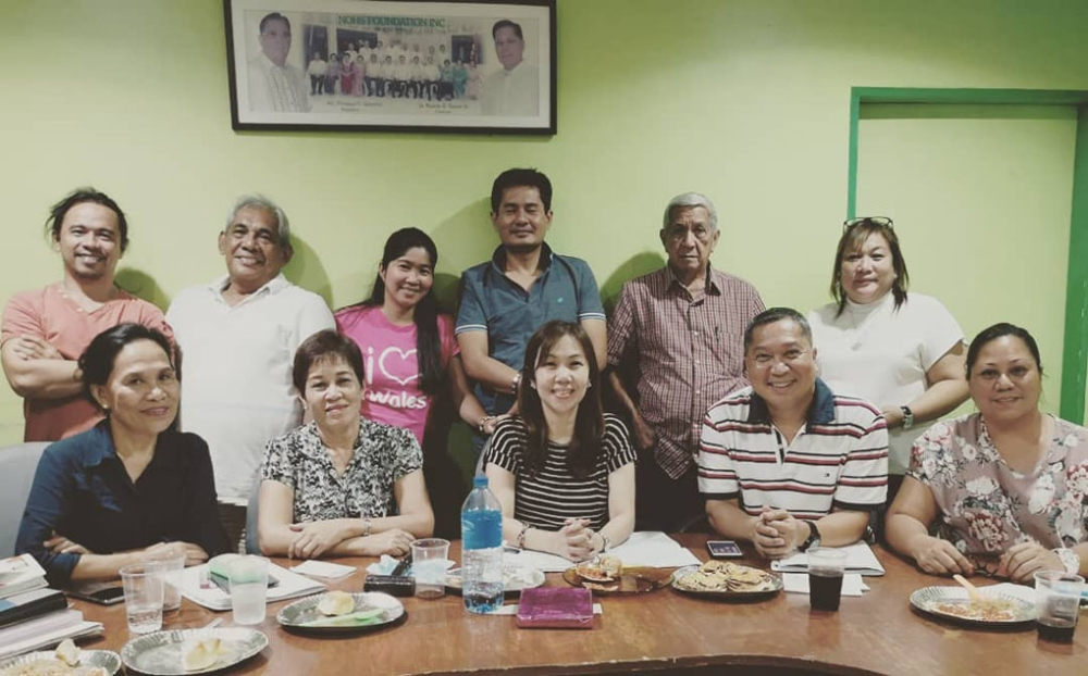 """BACOLOD. The Negros Occidental High School Alumni Association Inc. (NOHSAAI) officers and board of directors preparing for the """"One NOHS!"""" event chaired by Arnel Lapore (seated, second from right). (Contributed photo)"""