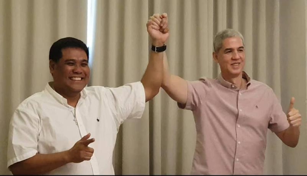 Vice Governor Eugenio Jose Lacson (right) and former Fourth District representative Jeffrey Ferrer will run for the top two provincial posts in 2019. (Carla Cañet)