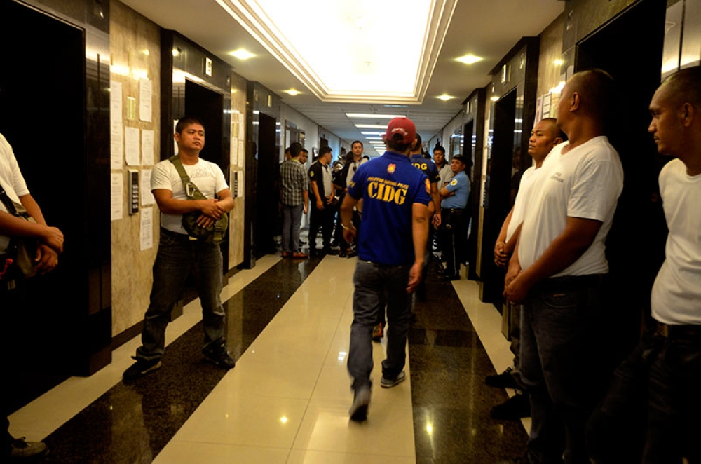 MANILA. Security is tight at the Makati Regional Trial Court during the hearing of the Department of Justice petition for a warrant of arrest and hold departure order against Senator Antonio Trillanes IV on October 5, 2018. (Photo by Al Padilla)