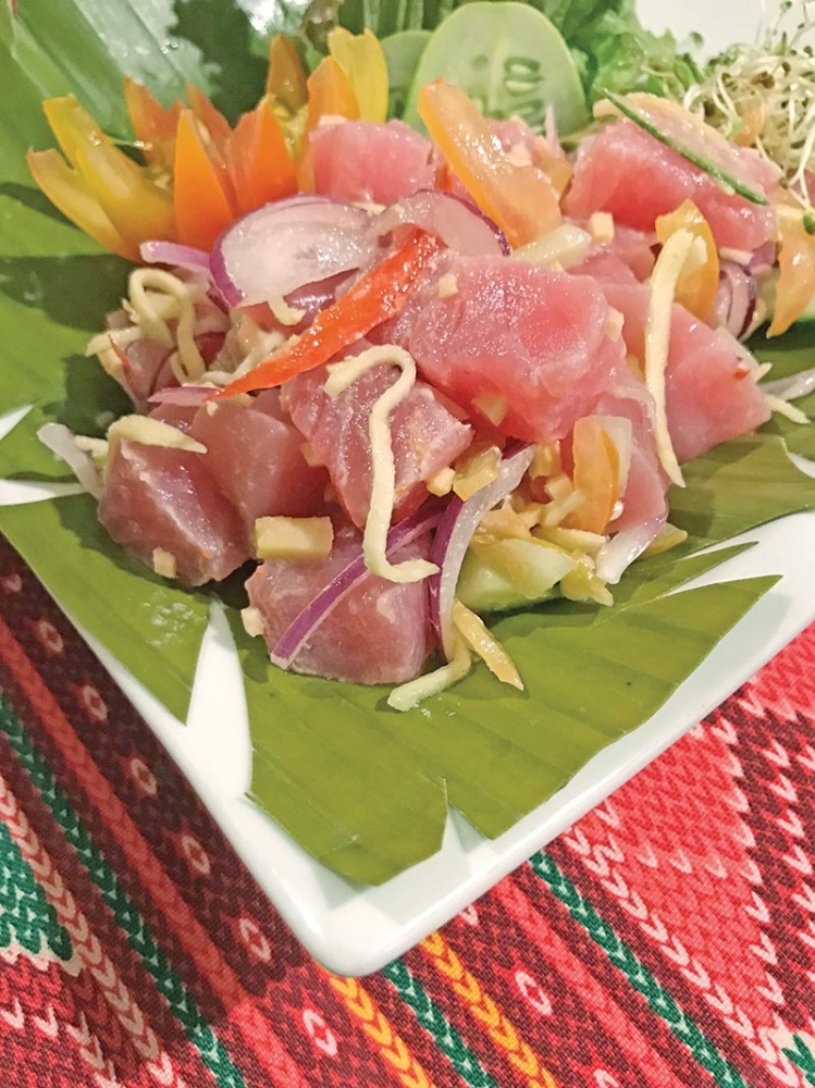 DAVAO. Tuna Kinilaw aka Tuna Ceviche will be one of the featured dishes in a dinner buffet at Three On Canton, Marco Polo Gateway Hotel, Hong Kong. (Jinggoy I. Salvador)