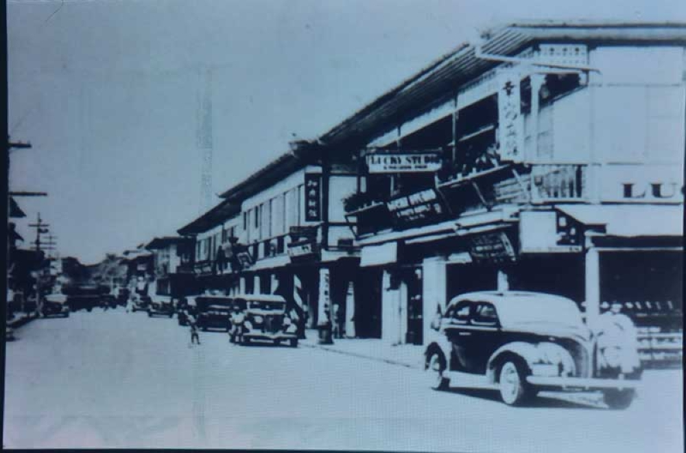 Downtown San Pedro shopping area in 1930s. (Macky Lim)