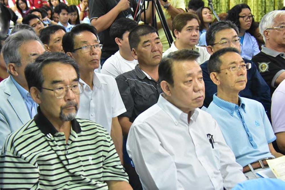 Japanese community delegates. (Macky Lim)