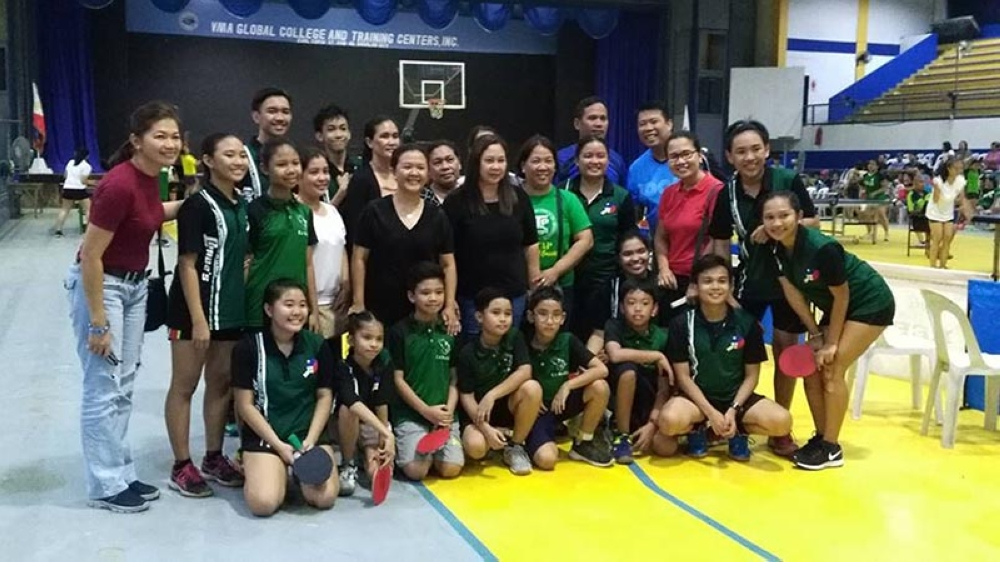The University of St. La Salle dominates the elementary boys and secondary girls divisions of Nopsscea Season 38 Table Tennis tournament played at VMA Global College gym. (Marell Lagunday)