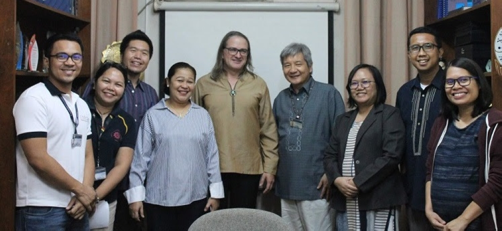 CAGAYAN DE ORO. From left: Jim Akut II of XU Senior High School, Mona Lisa Dahan Pangan of Campus Ministries, Dexter Lo of XU College of Engineering, Edralin Manla of XU School of Education, Eric Jones of NIU Center of Southeast Asian Studies, Xavier Ateneo president Fr Roberto C Yap SJ, Maria Victoria Bicbic Trinidad of the Arrupe Educational Center, Anito Librando Jr of XU Junior High School, and Ma Angeles B Dano-Hinosolango of University of Science and Technology in Southern Philippines. (Contributed photo)