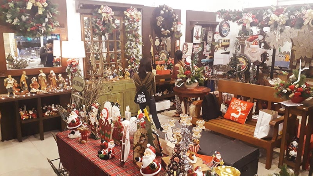 The Twin Head Furniture showcased its Christmas Collection, a display of Christmas decorations and items which are for sale. It will run from September until December. (Jo Ann Sablad)