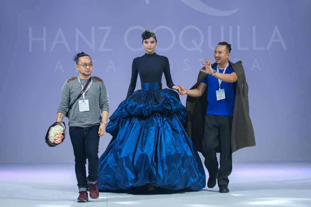 Final walk. Fashion designer Hanz Coquilla together with partner Ichael Serneo at last year's Macao Fashion Festival 2017. (Contributed Foto)