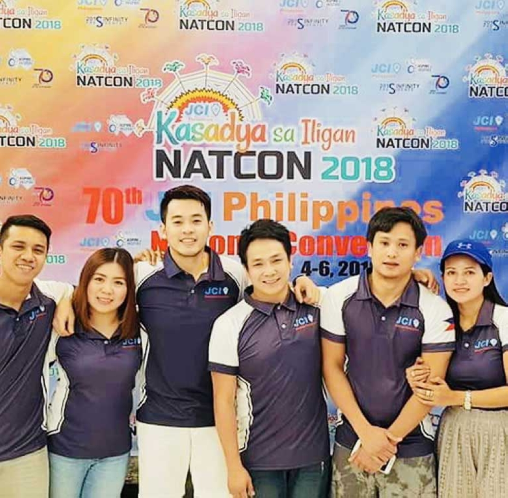 From left: JCI Bacolod Executive members Duke Lindugan, Stephanie Yu, Timothie Sy, Mhel Sillador, Paige Alitao, and Barbie Baldevieso. (Contributed Photo)