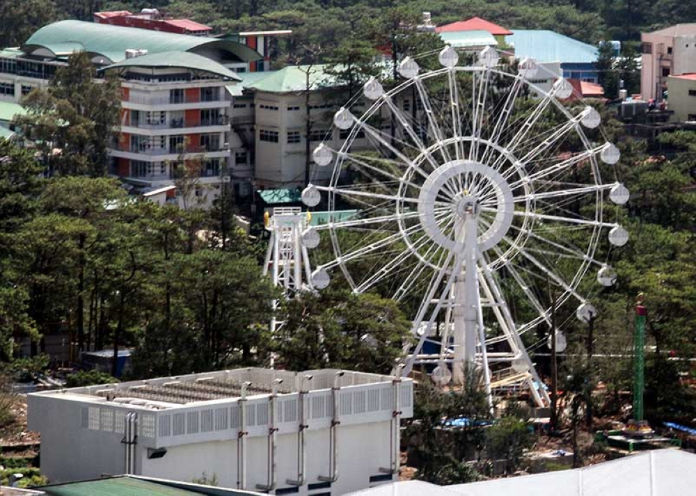 BAGUIO. Despite a plea from the City Council urging the management of SM and Sky Ranch Amusement Park to conduct public consultation, Mayor Mauricio Domogan believes there is no legal basis for such saying the property is privately owned by SM and has development permits in order. (Photo by Jean Nicole Cortes)