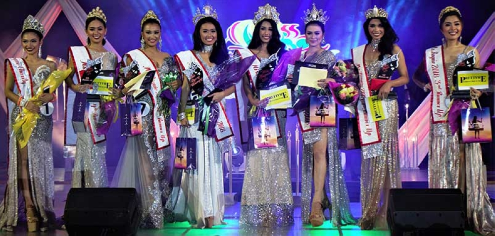 BAGUIO. Ms. Baguio 2018 winners! Candidate #20 Trizha Bartolome Ocampo (Ms. Baguio 2018), Candidate #14: Neeve Comanda (Ms. Baguio Tourism 2018), and Candidate #15 Chelsea Claro (Ms. Baguio Liga ng mga Barangay); Candidate #17 Ivylou Borbon (1st RU), Candidate #7 Belle Belsa (2nd RU), Candidate #5 CJ Olive (3rd RU), and Candidate #18 Xiannia Laussane Trinidad (4th Ru); Candidate #1 Chasey Sison (Ms. Baguio Charity). (Contributed photo)