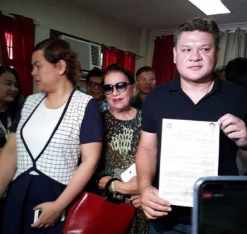 DAVAO. Former Davao City vice mayor Paolo Duterte filed on Friday, October 12, his certificate of candidacy (COC) eying a seat in Congress. (Lyka Casamayor)