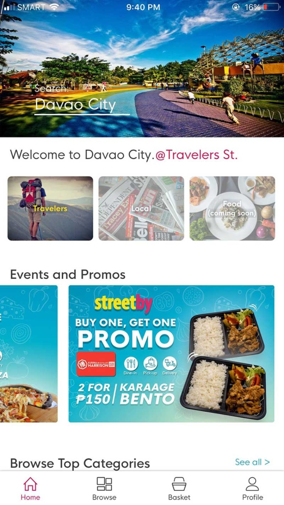 DAVAO. Streetby, the first lifestyle application in Mindanao, will allow users to avail of various services and have products delivered to them with just a few taps. (Contributed Photo)