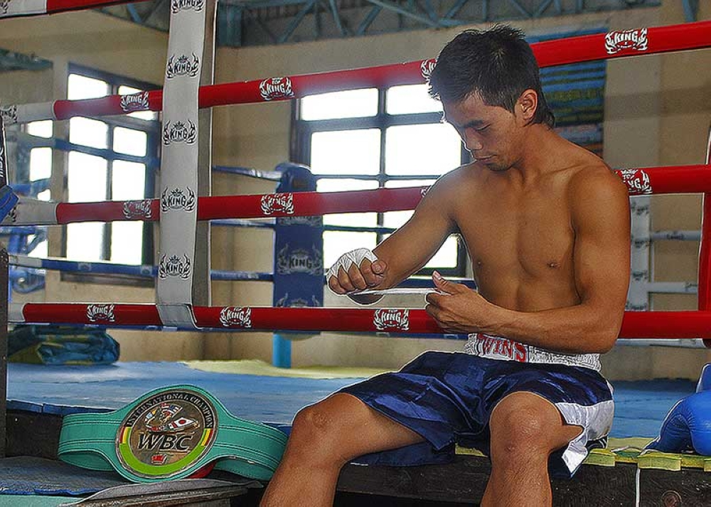 BAGUIO. Former WBC international champion Rex Wa-o returns to boxing after almost three years of hiatus as he seeks to help his fellow Igorots in a boxing for a cause slated this month. (SunStar File Photo)