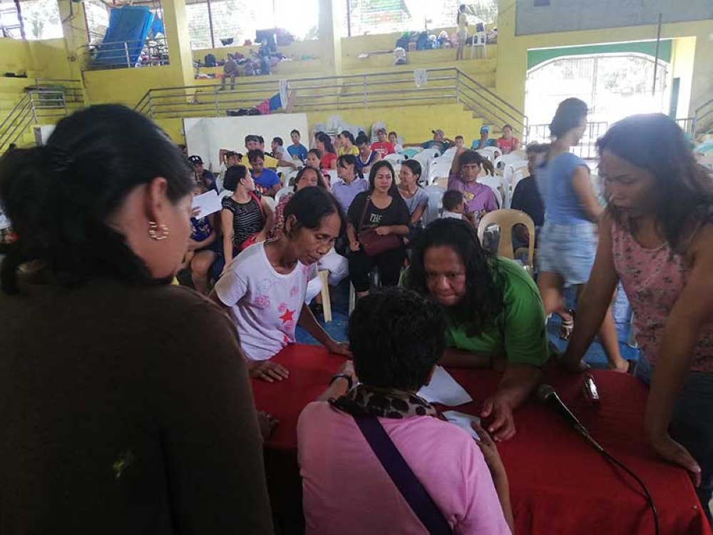 CAGAYAN DE ORO Fire victims of the Gusa fire are temporarily housed at Barangay Gusa covered court. About 66 familes, 37 houses, and 213 individuals were affected, while structural damage is pegged at P1.8 million. (PJ Orias)