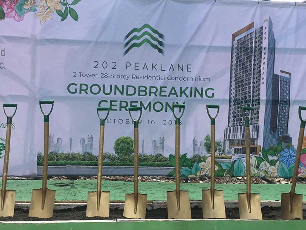 NEW PLAYER. Anchor Lands Inc. broke ground yesterday for its first residential tower project in the city, the 202 Peaklane, which will have two 28-storey residential towers that will rise along C.M. Recto St. (Gilford A. Doquila)