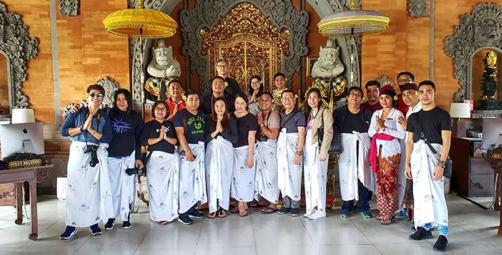 VisMin Fam Tour Delegates to Bali. (Photo by Jojie Alcantara and Rose Razon)